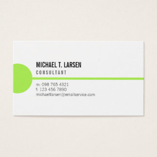 Lime Line White Minimalist Business Card