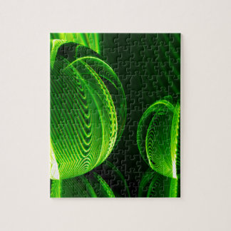 Lime lines in two balls jigsaw puzzle