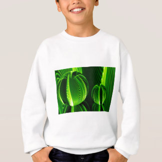 Lime lines in two balls sweatshirt