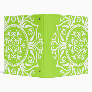 Lime Mandala 3 Ring Binder