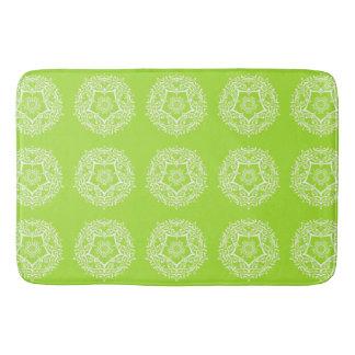 Lime Mandala Bath Mat