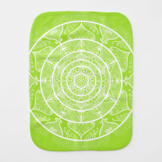 Lime Mandala Burp Cloth