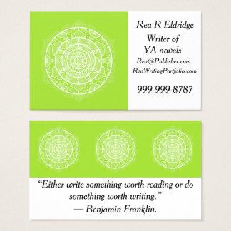 Lime Mandala Business Card