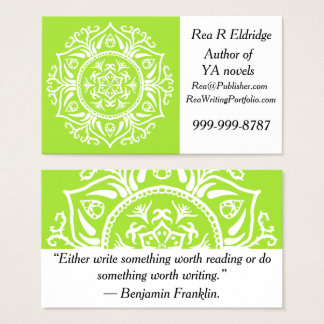 Lime Mandala Business Card