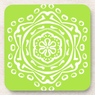 Lime Mandala Coaster