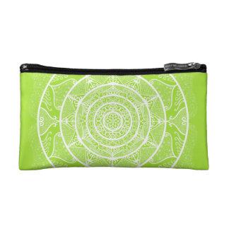 Lime Mandala Cosmetic Bag