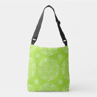 Lime Mandala Crossbody Bag