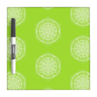 Lime Mandala Dry Erase Board