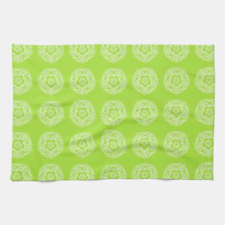 Lime Mandala Kitchen Towel