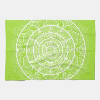 Lime Mandala Kitchen Towel