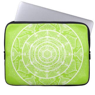 Lime Mandala Laptop Sleeve