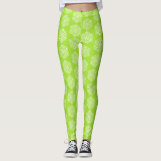 Lime Mandala Leggings