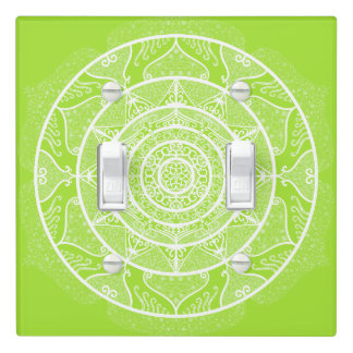 Lime Mandala Light Switch Cover