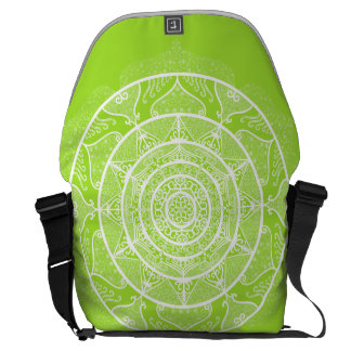 Lime Mandala Messenger Bag