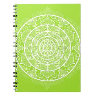 Lime Mandala Notebook