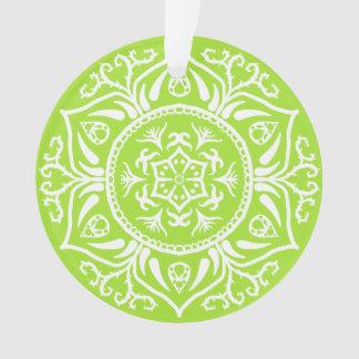 Lime Mandala Ornament