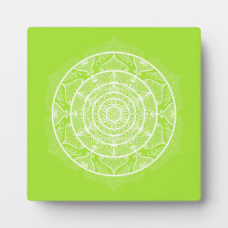 Lime Mandala Plaque