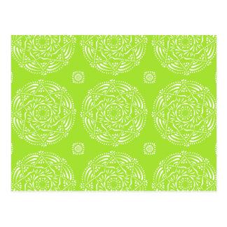 Lime Mandala Postcard
