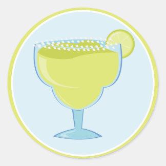 Lime Margarita Round Sticker