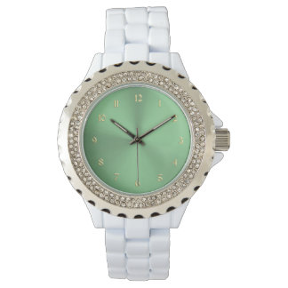 Lime Mint Green and Gold Ladies Watch