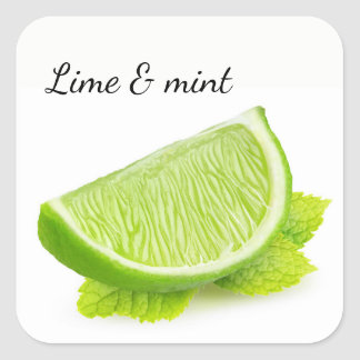 Lime & mint square sticker