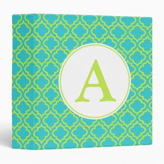 Lime Monogram Teacher's School Binder Scrapbook