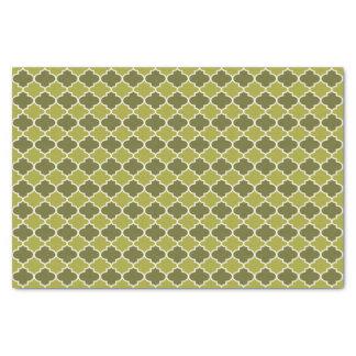 Lime Moroccan Quatrefoil Pattern Tissue Paper