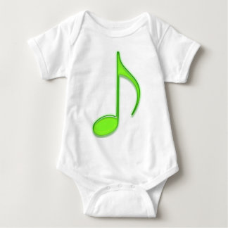Lime Music Note Baby Bodysuit