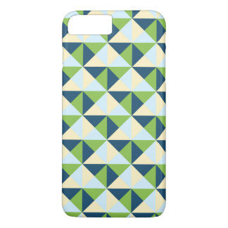 Lime Navy Blue Triangle Geometric iPhone 7 Case