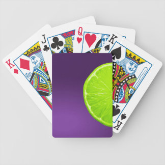 Lime on Purple Bicycle Playing Cards