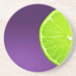 Lime on Purple Coaster