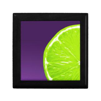 Lime on Purple Gift Box
