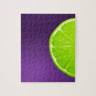 Lime on Purple Jigsaw Puzzle
