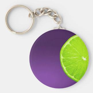 Lime on Purple Keychain