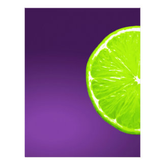 Lime on Purple Letterhead
