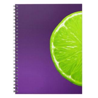 Lime on Purple Notebooks