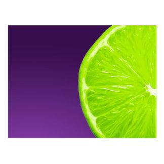 Lime on Purple Postcard