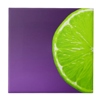 Lime on Purple Tile