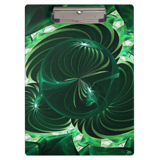 Lime Orb Fractal Clipboard