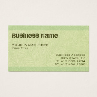 lime palm2 ~ bc business card