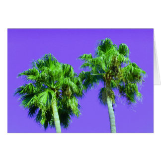 Lime Palm Trees Card