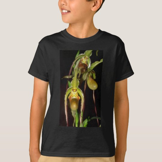 Lime Paphiopedilum flowers T-Shirt