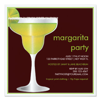 Lime Paradise Margarita Party Invitation