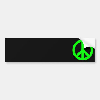 Lime Peace Symbol Bumper Sticker