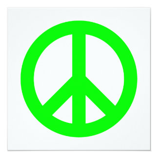 Lime Peace Symbol Card
