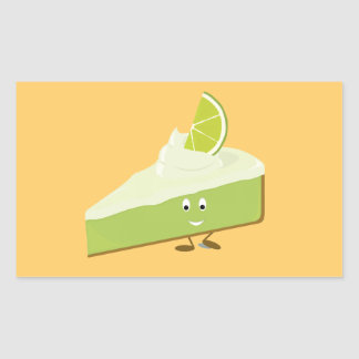 Lime pie slice character sticker