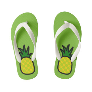 Lime Pineapple Flip Flops