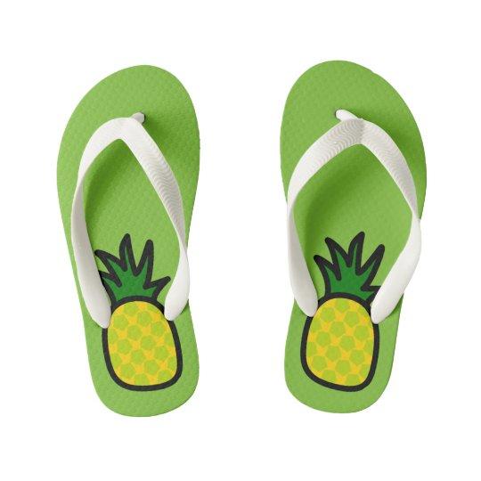Lime Pineapple Flip Flops