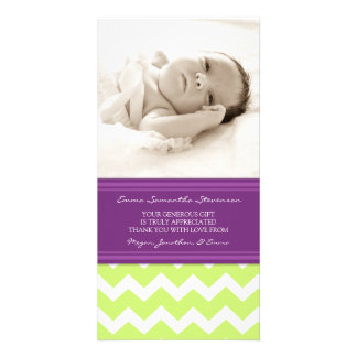 Lime Plum Thank You Baby Shower Photo Cards