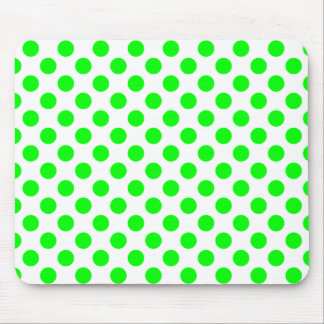 Lime Polka Dots Mouse Pad